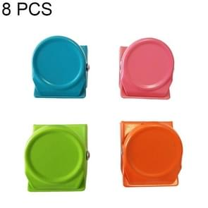 8 PCS Creative Color Metal Magnet Clip Strong Iron Clip Notes Letter Paper Clip Office Bind, Random Color Delivery