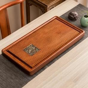 Household Rosewood Rectangle Tea Tray Tea Table, Feel Just Like A Fish in Water, S, Size: 62x31x5cm