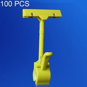 100 PCS JHB01 Pop Advertising Clip Supermarket Promotional Price Tag Price Tag(Yellow)