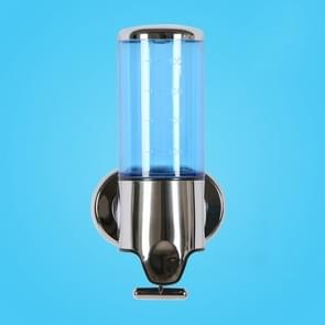 Hotel douche handmatige dispenser muur gemonteerd wassen vloeibare shampoo zeep fles  capaciteit: 500 ml (blauw)