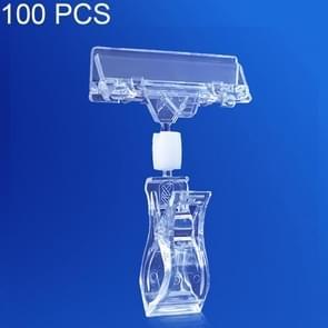100 stuks JH01 Pop reclame Clip supermarkt promotionele prijskaartje prijskaartje  grootte: 11 x 8 cm