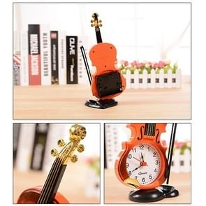 Multi-functional Originality Violin Electronics Pointer Alarm Clock with Pen Holder (Red)