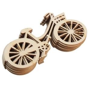 10 stuks DIY creatieve Cartoon houten Ornament  willekeurige stijl-levering