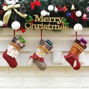 3 PCS Hang Ornament Kerstmis kousen aanwezig zakken  willekeurige stijl-levering