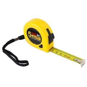 Deli intrekbare liniaal meten Tape draagbare trekken liniaal Mini meetlint  lengte: 5m
