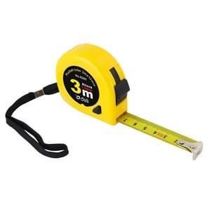 Deli intrekbare liniaal meten Tape draagbare trekken liniaal Mini meetlint  lengte: 3m