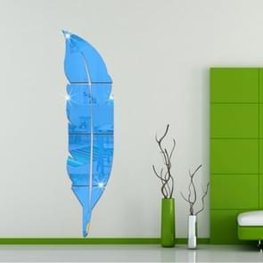DIY Feather acryl spiegel muur Stickers huis van de stijl kamer muurschildering decoratie Art muur Sticker  grootte: 30*120cm(Blue)