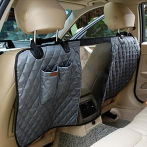 Luxe reizen huisdier hond autostoel hek veiligheid huisdier hek achterste rij zetel veiligheid isolatie netto barrièrebescherming grootte: 124 x 46 x 31cm(Grey)