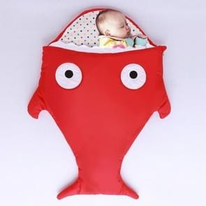 Schattig Shark Style Baby slapen kleding tas voor 1-1 5 jaar Baby  grootte: 105 werf (rood)