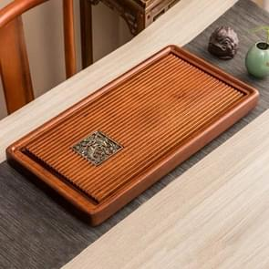 Household Rosewood Rectangle Tea Tray Tea Table, Feel Just Like A Fish in Water, M, Size: 70x36x5cm