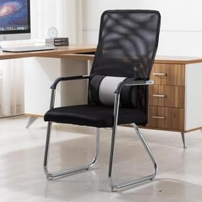 Eenvoudige huishoudelijke mesh computer stoel conferentie stoel vaste stoel met taille kussen (zwart)