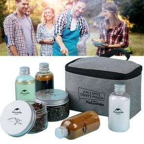 Naturehike 6pcs Outdoor Camping Seasoning Bottles Cans With A Bag For BBQ Portable Picnic Tableware Storage Container