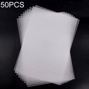 50 stuks doorschijnend ruwe slijpen Heat Shrink Film DIY warmte krimpfolie