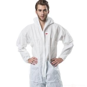 3M 4515 One-piece White Anti-static Anti-chemical Dustproof Sandblasting Suit with Cap, Size: XL