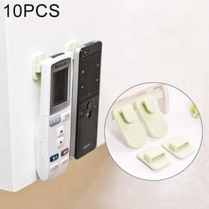 10 PCS Paste Type Remote Control Receive Hook Multi-functional Wall Hooks, Random Color Delivery