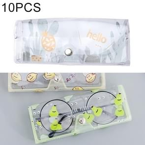 10 PCS Cartoon Cactus Pattern PVC Transparent Protective Case for Sunglasses / Glasses