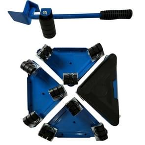 5 in 1 Triangle Iron Movers Home Trolly Heavy Furniture Moving to Save Effort(Blue)