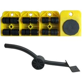 A3 Steel / Plastic Crowbar Plastic Mover Thick Weight Moving Tool Convenient And Practical Combination(Yellow)