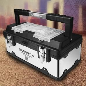 17 inch Stainless Steel Multi-function Portable Home Car Repair Tool Storage Box