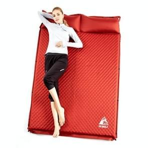 Hewolf 1878 Outdoor Camping dubbele automatische opblaasbare pad slaap matras  grootte: 188x130x5cm (rood)