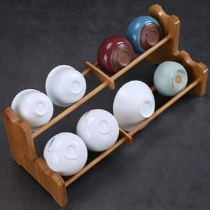 Creative Double-deck Kung Fu Tea Set Tea Cup Holder Drainage Rack