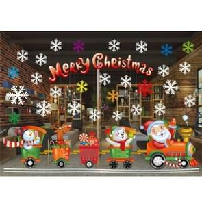 Christmas Creative Glass Wall Stickers Window Decoration Removable, Size: 55*38cm