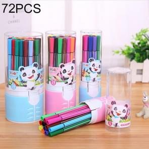 72 PCS / (2 Sets) 36 Colors Cartoon Washable Watercolor Pen Art Painting Pen, Random Color Delivery