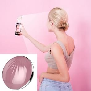 RK26S Sea Shell Design Portable MIni Makeup Mirror Beauty Selfie Light Selfie Clip Flash Fill Light Power Bank (Pink Purple)