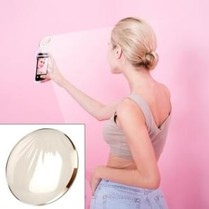 RK26S Sea Shell Design Portable MIni Makeup Mirror Beauty Selfie Light Selfie Clip Flash Fill Light Power Bank (Beige)