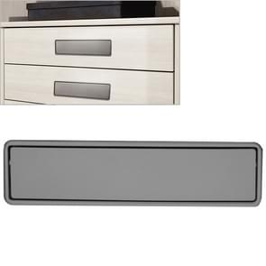 Simple Wardrobe Slotted Scrub Handle Concealed Recessed Drawer Invisible Handle, Hole Distance:160mm (Grey)