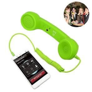 3.5mm Plug Mic Retro Telephone Anti-radiation Cell Phone Handset Receiver(Green)