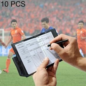 10 stuks rode kaart gele kaart voetbal scheidsrechter kaart sport Notebook met potlood scheidsrechter Record boete kaart