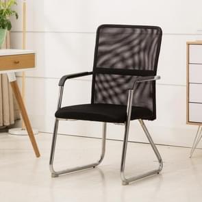 QZ-6 Home Leisure computer stoel kantoorpersoneel conferentie stoel zwart frame vaste stoel (zwart)