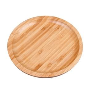 Household Creative Simple Round Bamboo Tea Tray Mini Tea Table  Diameter: 20cm
