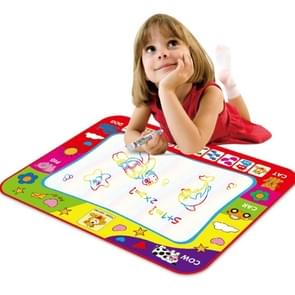Children Rainbow Color Magic Doodle Water Drawing Mat with 2 Pen, Size: 30cm x 20cm