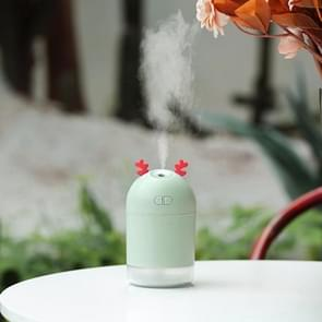 Lucky Deer Shape Large Capacity 400ml LED Humidifier (Green)
