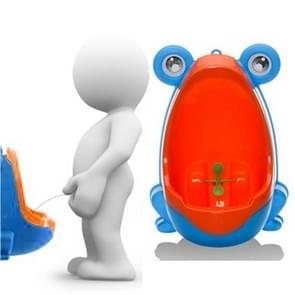Cartoon / wandmodel onbenullige Toilet(Blue) van het jonge geitjes van de vorm van de kikker