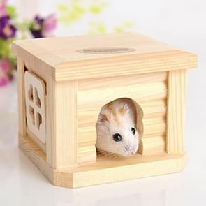 Huisdier plat dak houten huis Hut huisdieren kooi voor kleine dierlijke konijn Hamster