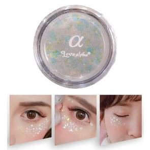 Monochrome Eye Shadow Pearlescent High-gloss Stage Sequin Makeup Free Glue Glitter Powder (White)