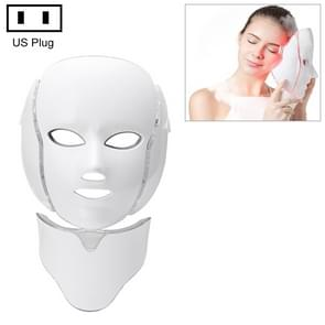 7 Color LED Facial Mask Photon Mask Skin Rejuvenation Face Beauty Machine, US Plug