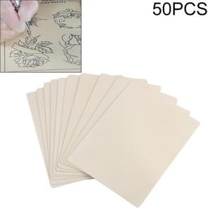 50 PCS Blank Tattoo Oefening Siliconen huid