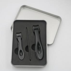 3 in 1 Nail Art tool nagel Clipper roestvrijstaal nagel Nipper (zwart)