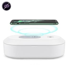 15W Wireless Charging Sterilization Box Smartphone Steriliser UV Light Desinfection Cleaning Box (Wit)
