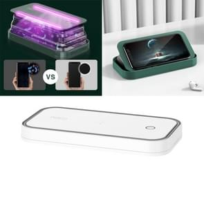 ROCK Smartphone Sterilizer UV Light Desinfection Cleaning Box met Houder Functie (Wit)