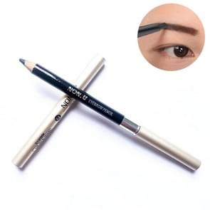 NONU Waterproof Sweatproof Smudgeproof Eyebrow Pencil with Eyebrow Brush (Black)