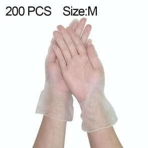 200 PCS dikker disposable clear food grade PVC poedervrije isolatie waterdichte handschoenen  grootte: M