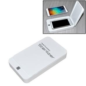 Multifunctionele mobiele telefoon gezichtsmasker UV-desinfectie Aromatherapie UltravioletLamp Steriler Desinfectiedoos (Wit)