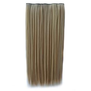 613H16# One-piece Seamless Five-clip Wig Long Straight Wig Piece