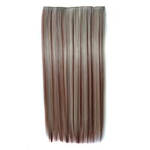 613H35# One-piece Seamless Five-clip Wig Long Straight Wig Piece
