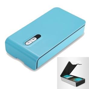 Multifunctionele USB Charged UV Light Desinfectie sterilisatie reinigingsbox voor telefoon / bril / sieraden (Baby Blue)